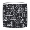 Michael Miller Birdie Swing Fabric Lampshade in Black