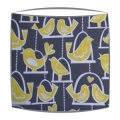 Michael Miller Birdie Swing Fabric Lampshade in Grey