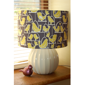 Quirky lampshades uk bespoke handmade in fabrics you wont find on birdie swing lampshade aloadofball Gallery
