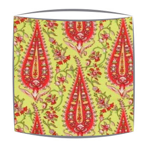 Amy Butler Paisley Fabric Lampshade in Lime