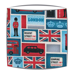 Best of British fabric lampshade