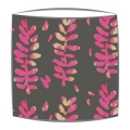 Bon Maison Acacia Grey & Pink fabric drum lampshade