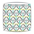 Bon Maison Colombage fabric lampshade in Yellow, Turquoise & Black