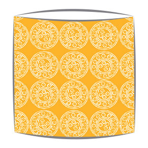 Bon Maison Mayenne Fabric lampshade in Orange & White large