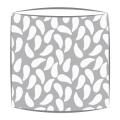 Bon Maison Shells fabric lampshade in grey