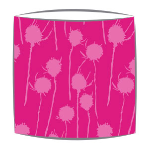 Bon Maison Teasels fabric Lampshade in pink