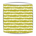 Bon Maison Wavy fabric lampshade in green