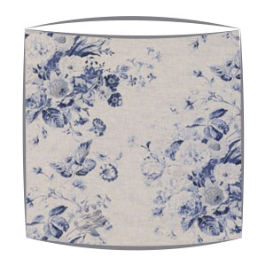 Cabbages and Roses Contstance fabric lampshade in blue