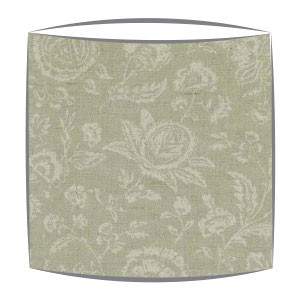 Cabbages and Roses French Toile lampshade in aqua