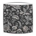 Cabbages and Roses French Toile lampshade in black