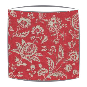 Cabbages and Roses French Toile lampshade in raspberry