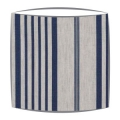 Cabbages and Roses Jolly Stripe fabric lampshade in blue
