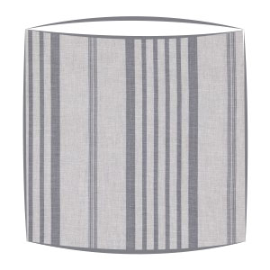 Cabbages and Roses Jolly Stripe fabric lampshade in slate