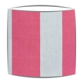 Cabbages and Roses Natural Elephant Stripe fabric lampshade in raspberry