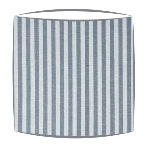 Cabbages and Roses Natural Little Stripe fabric Lampshade  in slate