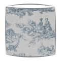 Cabbages and Roses Toile De Poulet fabric lampshade in blue