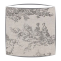 Cabbages and Roses Toile De Poulet fabric lampshade in grey