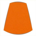Candle Clip Lampshade for Candelabra or Wall Lights in Orange