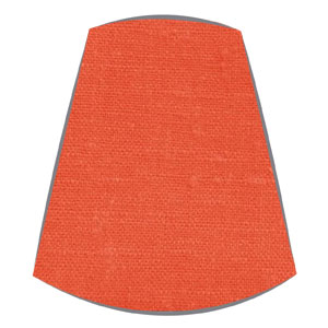 Candle Clip Lampshade for candelabra or wall light in orange linen