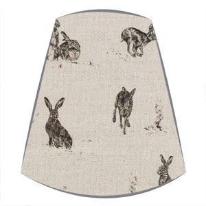 Candle Clip Lampshade in Sophie Allport Hare Capers fabric