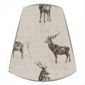 Candle Clip Lampshade in Sophie Allport Stag Parade fabric