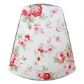 Cath Kidston Fabric Candle Clip On Lampshade in Rosali White