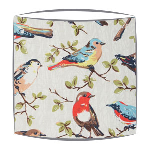 Cath kidston garden birds fabric lampshade handmade in drum shape cath kidston garden birds fabric lampshade mozeypictures Choice Image