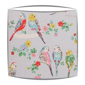Cath Kidston budgies fabric lampshade