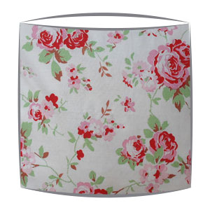 Cath Kidston lampshade in Rosali white fabric