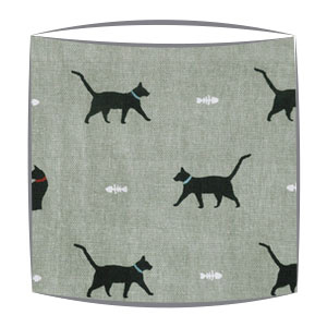 Cats Fabric Drum Lampshade