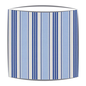 Clarke and Clarke Deckchair Stripes Fabric Lampshade in Blue