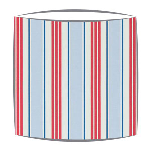 Clarke and Clarke Deckchair Stripes Fabric Lampshade in Powder Blue