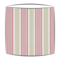 Clarke and Clarke Deckchair Stripes Fabric Lampshade in Sage