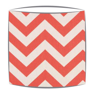 Coral Chevron Zig Zag Fabric Drum Lampshade