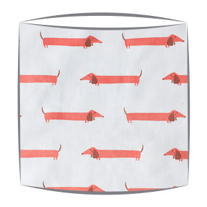 Daschund fabric Drum Lampshade