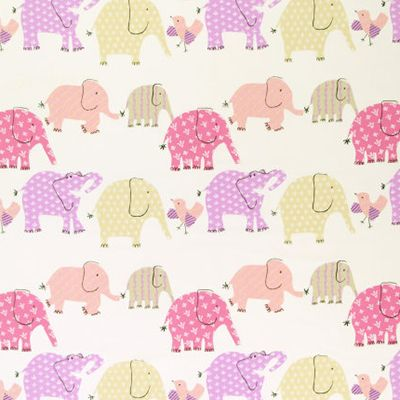 Designers Guild 'Elephant & Castle Fabric pink