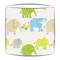 Designers Guild Elephant and Castle Fabric Lampshade in Ocean