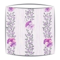 Designers Guild Pansy Stripe fabric lampshade in Crocus