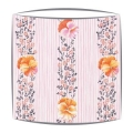Designers Guild Pansy Stripe fabric lampshade in Peony