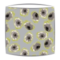 Green & Grey Dragonfruit Fabric Drum Lampshade