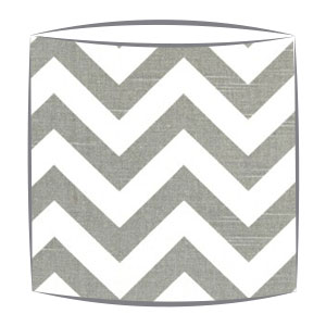 Grey Chevron Zig Zag Fabric Drum Lampshade