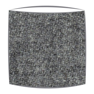 Harris Tweed fabric lampshade in grey