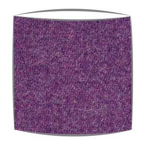 Harris Tweed fabric lampshade in purple