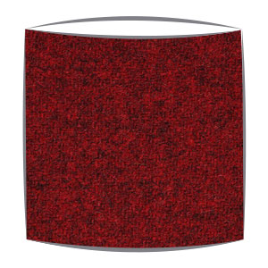 Harris Tweed fabric lampshade in ruby