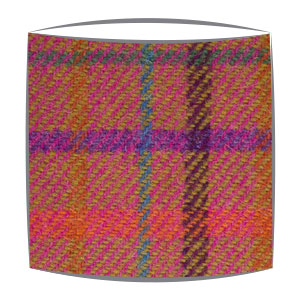Harris Tweed lampshade Bright Pink Check