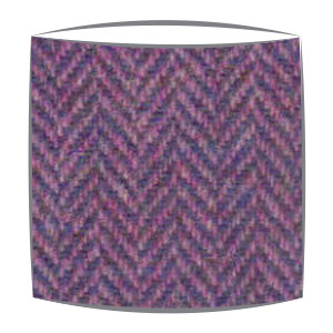 Harris Tweed lampshade in Lilac herringbone