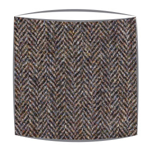 Harris Tweed lampshade in brown herringbone