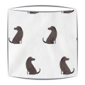 Labrador Fabric Drum Lampshade
