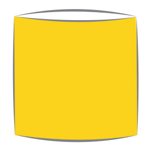 Lampshade in canary yellow fabric