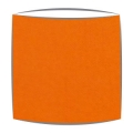 Lampshade in orange fabric (2)